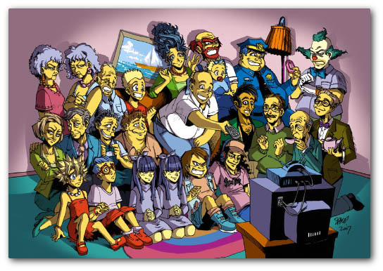 Fotos raras de los Simpsons